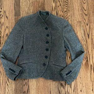 Lauren By Ralph Lauren | Black White Tweed Jacket